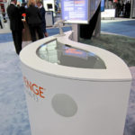 The Interactive Multi-touch Wave Table is a wave-shaped multi-touch table designed by Interference Inc./SuperTouch and showcased information about the pharmaceutical company. My role involved programming the application being utilized on the table.