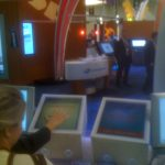 This project involved custom hand scanner and multi-touch displays. Users would enter their information on the display, place their hand and the resulting image scan would display on a large map geotagged with their location. My role involved programming the applications as well as the hand scanning computer vision elements.