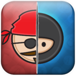 Pirate or Ninja helps you and your matees discover, experience and conquer the world around you. Play with your friends to conquer over 750,000 locations to unlock content and special perks. Train your pirate or ninja skills with massive social battles to become the ultimate pirate or ninja. This was an app released on the AppStore but has since been shut down.